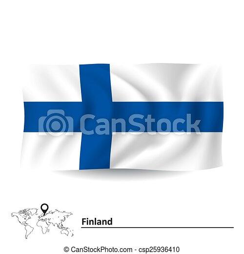 Flag of Finland - csp25936410