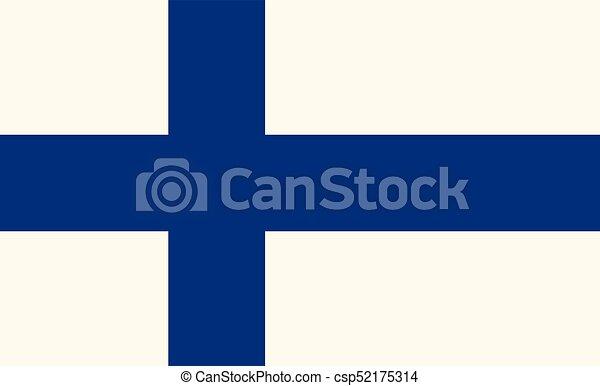 Flag of Finland - csp52175314