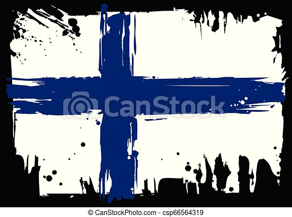 Flag Of Finland - csp66564319