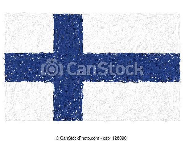 flag of finland - csp11280901
