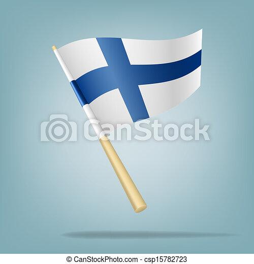 Flag of Finland, Vector illustratio - csp15782723