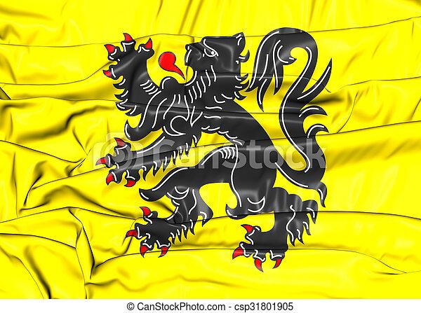 Flag of Flanders Region, Belgium. - csp31801905