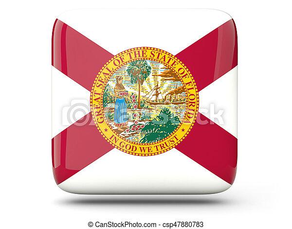 Flag of florida, US state square icon - csp47880783