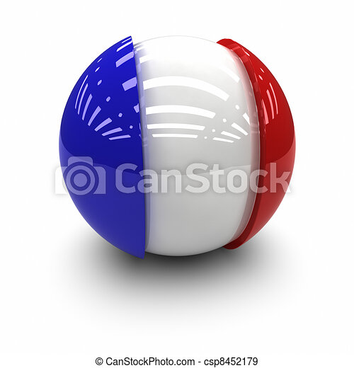 Flag of France - csp8452179