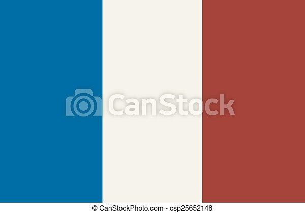 Flag Of France - csp25652148