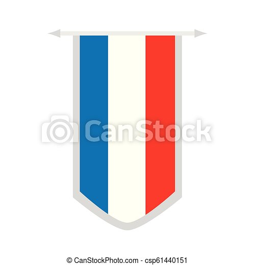 Flag of France on a banner - csp61440151