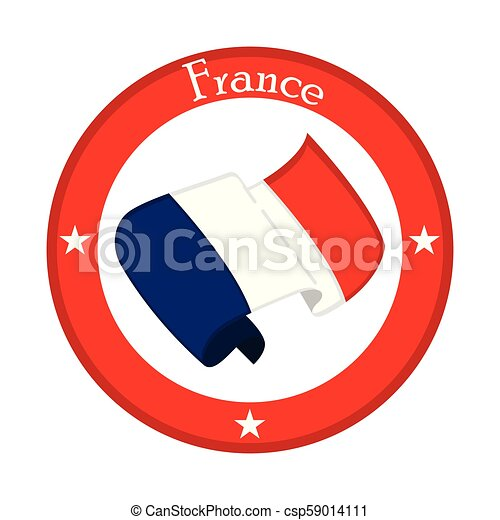 Flag of France on a label - csp59014111