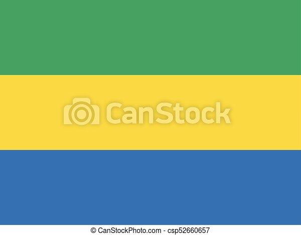 Flag of Gabon - csp52660657