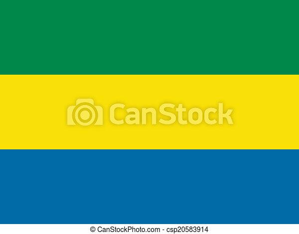 Flag of Gabon - csp20583914