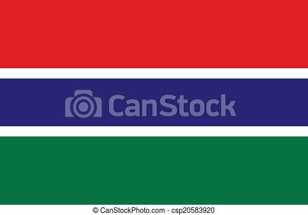 Flag of Gambia - csp20583920