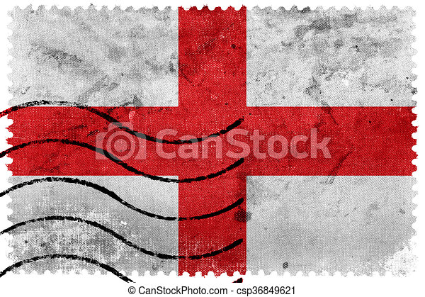 Flag Of Genoa Old Postage Stamp Canstock