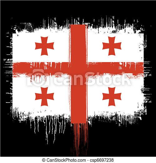 flag of georgia  - csp6697238