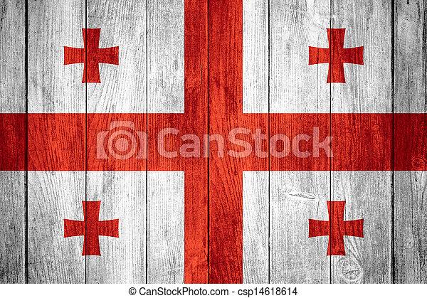 flag of Georgia - csp14618614