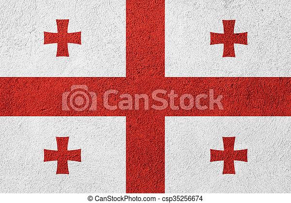 flag of Georgia - csp35256674