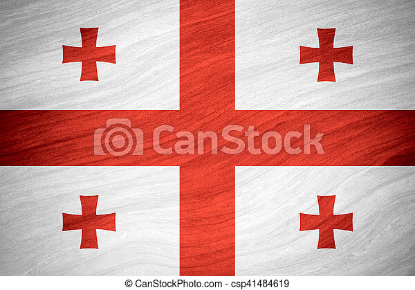 flag of Georgia - csp41484619
