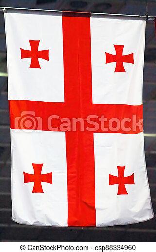 Flag of Georgia - csp88334960