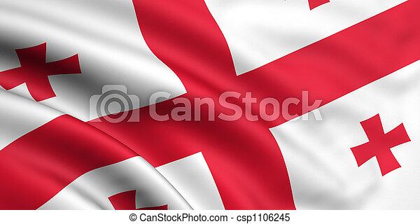 Flag Of Georgia - csp1106245