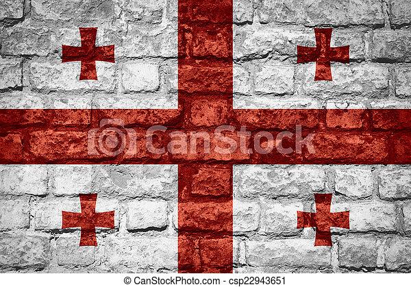 flag of Georgia - csp22943651