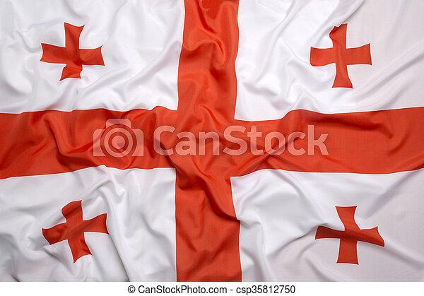 Flag of Georgia - csp35812750
