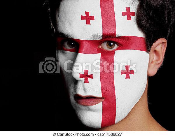 Flag of Georgia - csp17586827