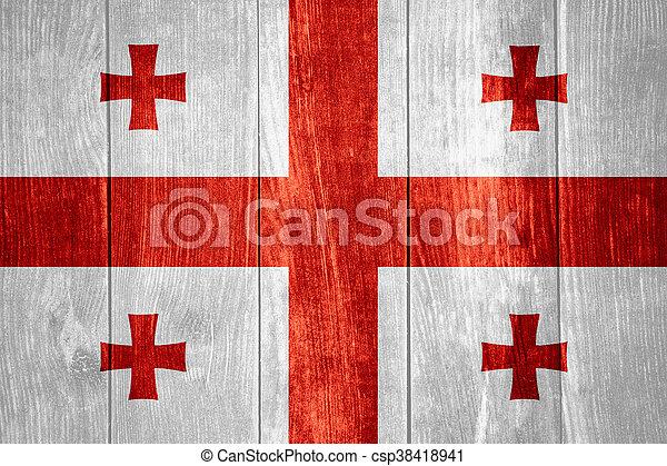flag of Georgia - csp38418941