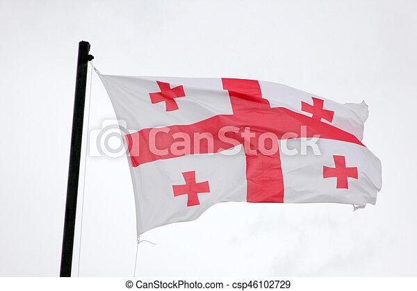 Flag of Georgia - csp46102729