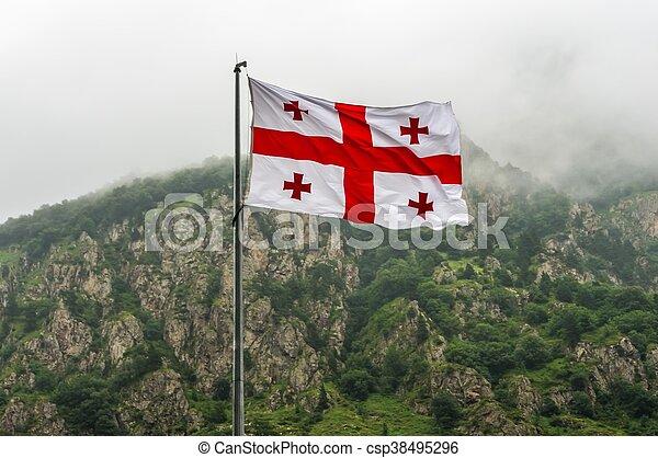 Flag of Georgia - csp38495296