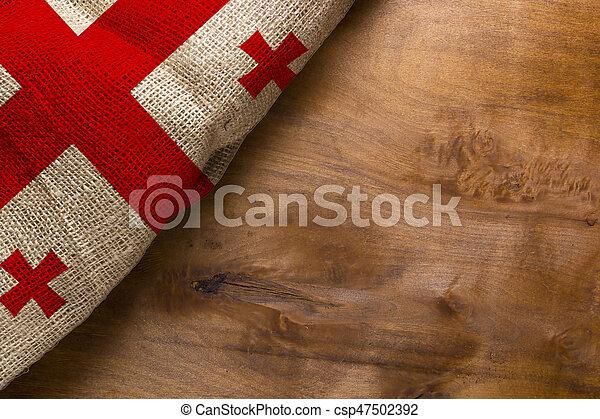 Flag of Georgia - csp47502392