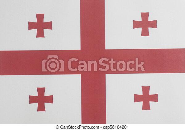 Flag of Georgia - csp58164201