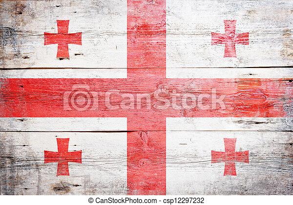 Flag of Georgia - csp12297232