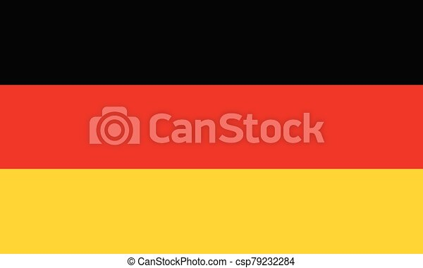 Flag of Germany vector illustration - csp79232284