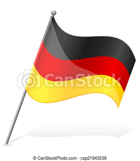 flag of Germany vector illustration - csp21943538