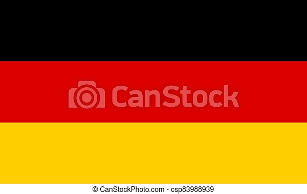 Flag of Germany Vector illustration - csp83988939