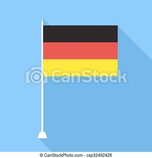 Flag of Germany . Vector illustration. - csp32492428