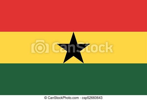 Flag of Ghana - csp52660643