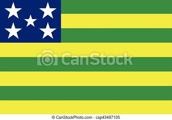 Flag of Goias State, Brazil. Vector Format - csp43497105