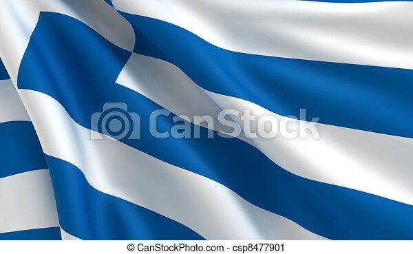 Flag of Greece - csp8477901