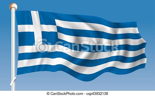 Flag of Greece - csp43932138