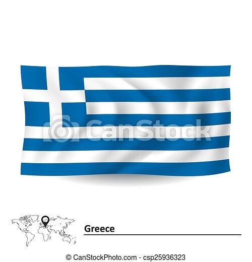 Flag of Greece - csp25936323