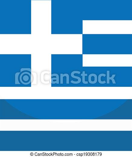 Flag of Greece - csp19308179