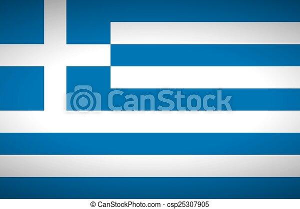 Flag of Greece. - csp25307905