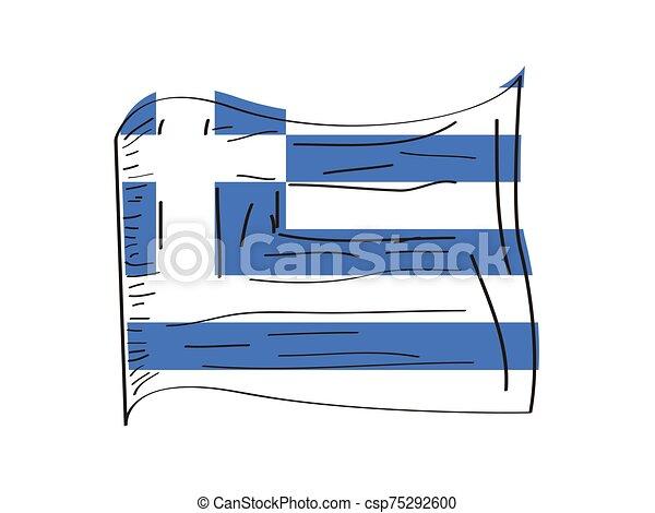 Flag of Greece - csp75292600