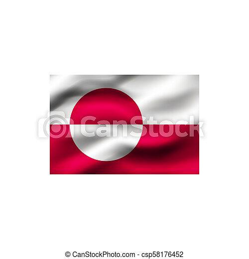 Flag of Greenland. - csp58176452