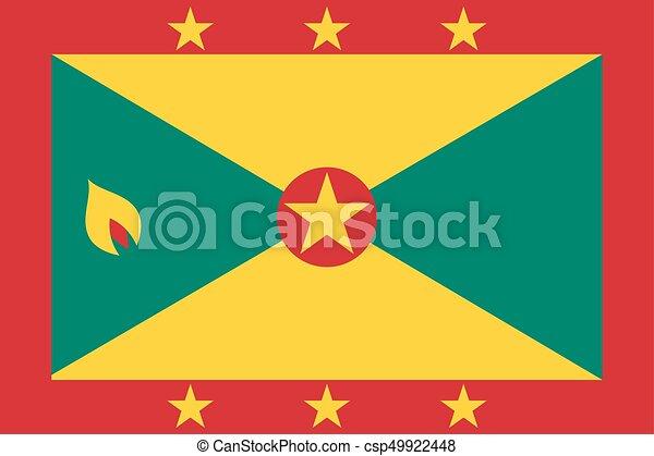 Flag of Grenada - csp49922448