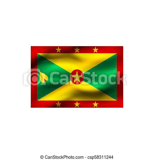 Flag of Grenada. - csp58311244