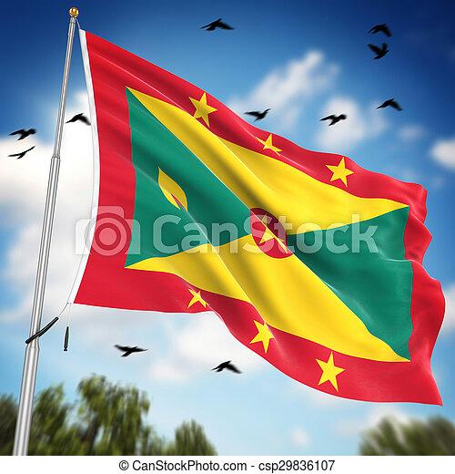 Flag of Grenada - csp29836107