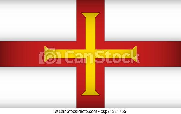 Flag of Guernsey. - csp71331755
