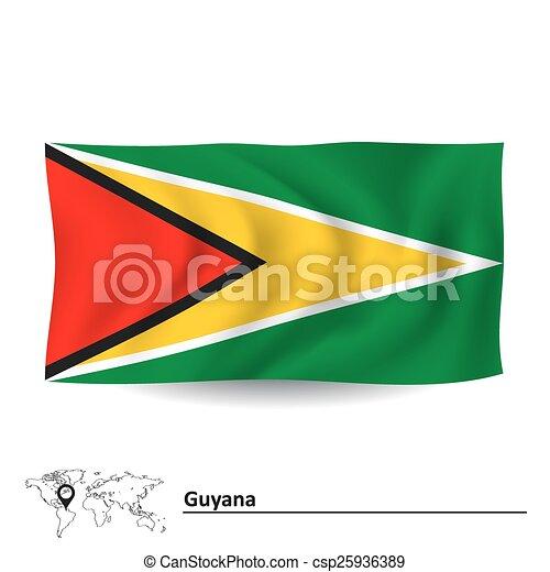 Flag of Guyana - csp25936389