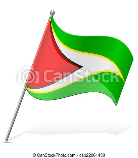 flag of Guyana vector illustration - csp22061430