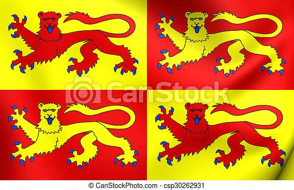Flag of Gwynedd, Wales. - csp30262931